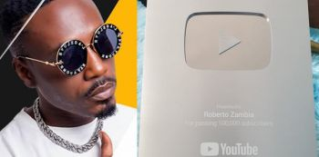 Roberto Becomes The First Zambian To Get The YouTube Award