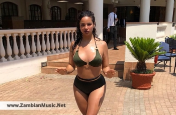 Zambian Upcoming Musician - Shadaya Flaunts Sexy Body In Zanzibar