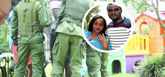 Zambian Man Proposes To His Girlfriend Amidst Armed Zambian Police